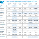 DMARC Food Pantry Network Holiday Schedule